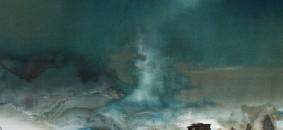 Anelito di solitudine 80x80 Tecnica mista su tela 2012