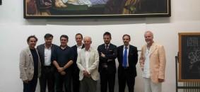 Gli organizzatori di Tech Expo Design durante la conferenza di presentazione della fiera