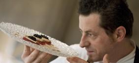 Lo chef Stefano Cerveni del  Due Colombe, 1 stella Michelin, Corte Franca/Borgonato (BS)