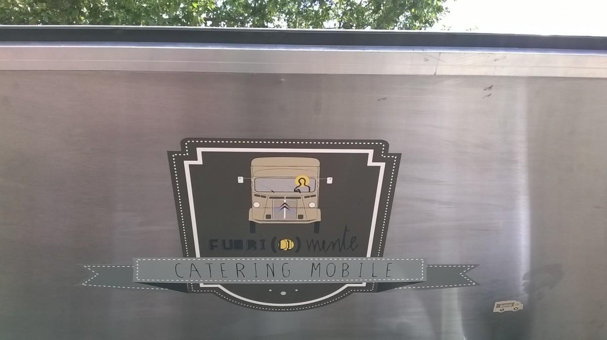 Particolare del furgoncino di Mente Locale (Brescia)