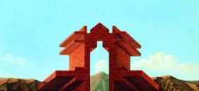Scolari Massimo_1979 PORTA PER CITTA DI MARE oli on cardboard canvas  470x395 mm (AMSV)