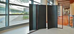 Campus Einaudi -struttura  2009 -ferro smalto rosso cm. 300x160x80