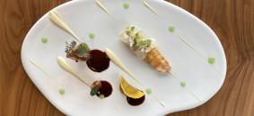 Scampo di Sicilia e faraona con cavolfiore e mela verde_Bianca sul Lago by Emanuele Petrosino